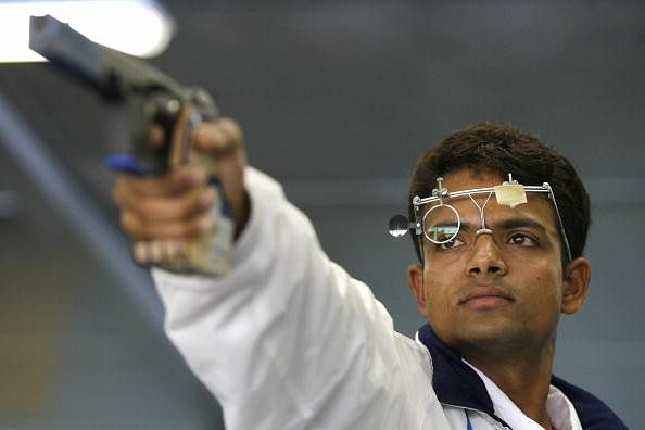 Indian 25m Rapid Fire Pistol team clinch bronze at the Asian Shooting Championships