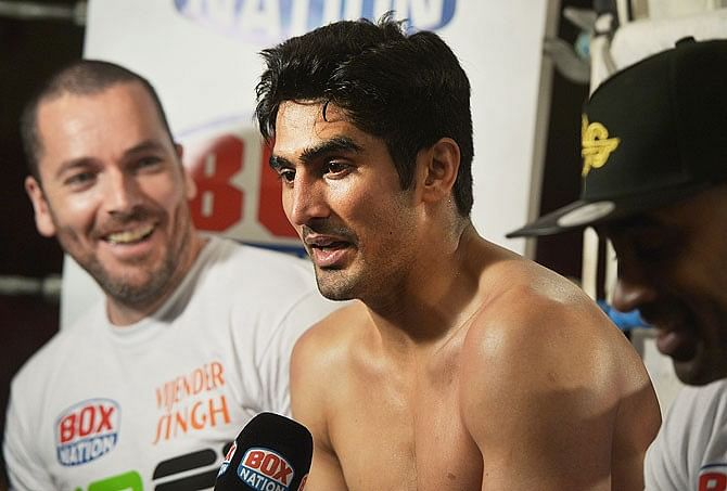 Vijender Singh might become India's first world champion sooner than thought