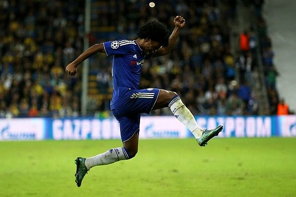 How Willian has almost single-handedly carried Chelsea through the Champions League group stages