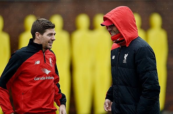 Steven Gerrard back at Liverpool, trains with the first team