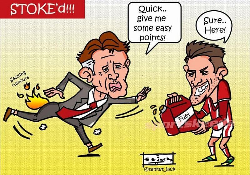 Comic - Manchester United's Louis van Gaal gets Stoke'd!