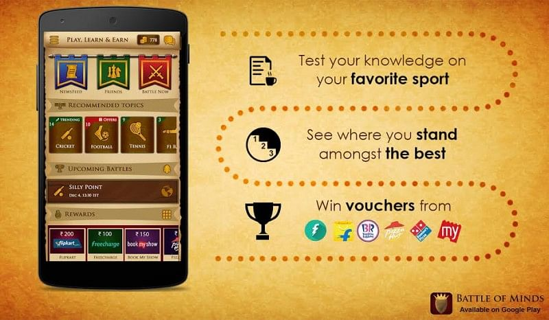Battle of Minds: This app rewards you for knowing about your favourite sport