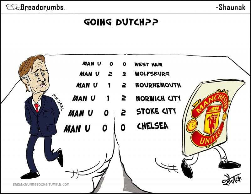 Comic - Manchester United's Louis van Gaal - The Dutchman might split