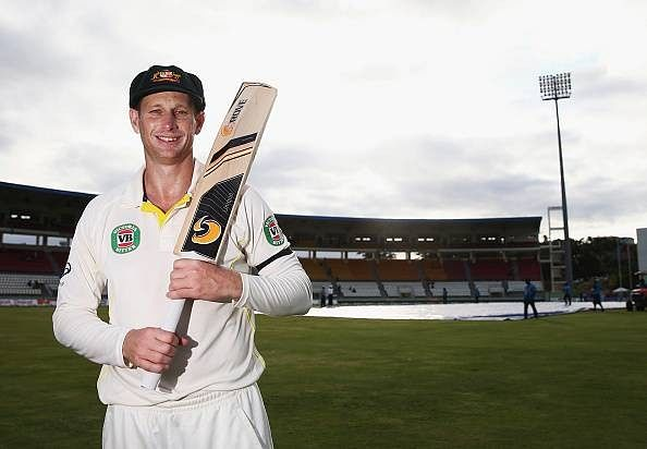 Adam Voges wins the Richie Benaud medal for Player of the Series