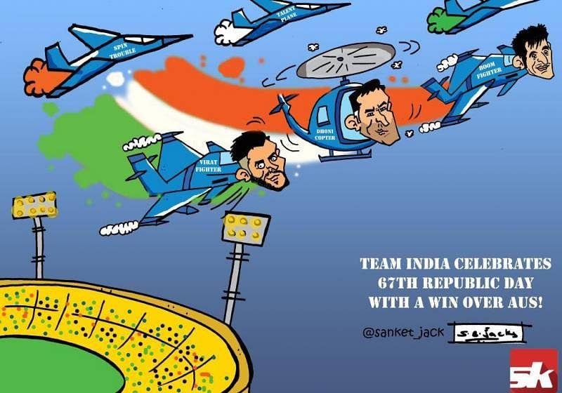 COMIC: India win against Australia on 67th Republic Day!