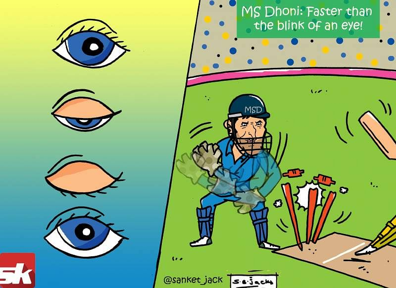 Comic: MS Dhoni - Faster than the blink of an eye!