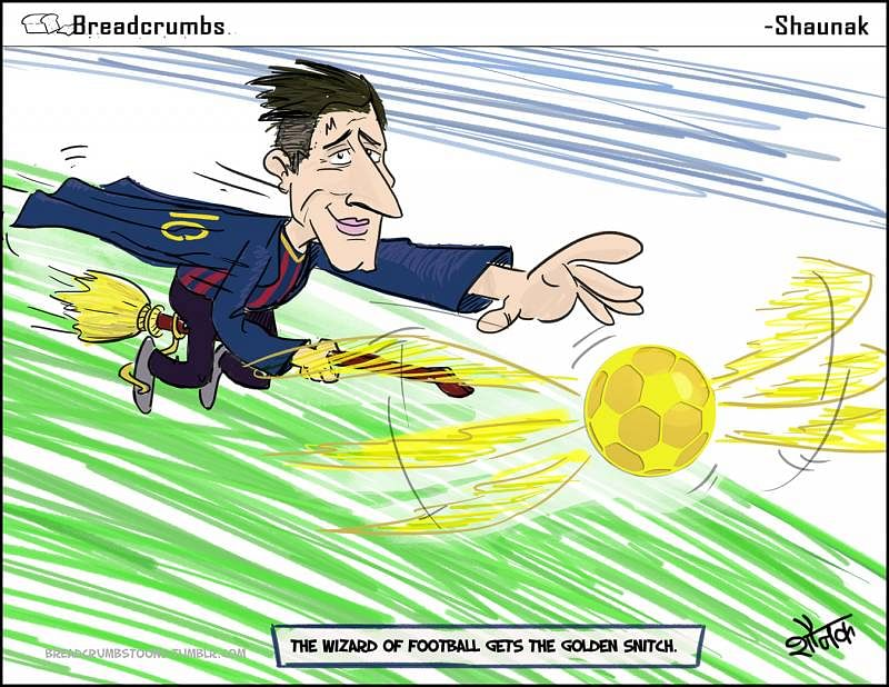 Comic: The Wizard of Football gets the Golden Snitch for fifth time