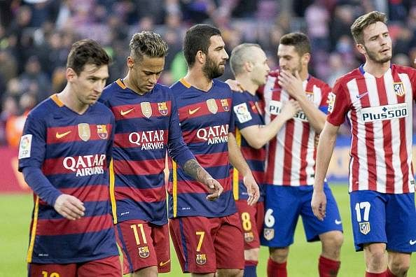 La Liga soccer standings; Barcelona sit atop 3 points clear of Atletico Madrid