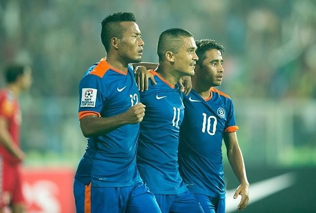 Sunil Chhetri inspires India to 2-1 win over Afghanistan to clinch seventh SAFF Championship