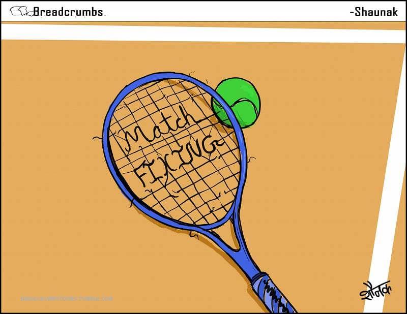 Comic: Match fixing allegations rock tennis world
