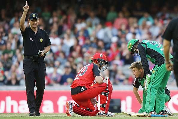 Video: Peter Nevill's 'self' run-out in Big Bash League 2016 is the most bizarre dismissal you've ever seen