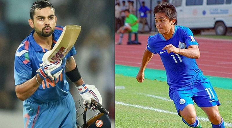 Virat Kohli and Sunil Chhetri wish each other on Twitter after India win SAFF Cup