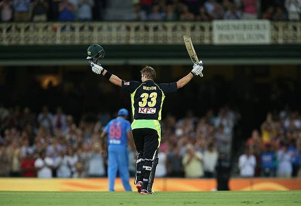 Shane Watson's century powers Australia to a massive 197 in the first innings