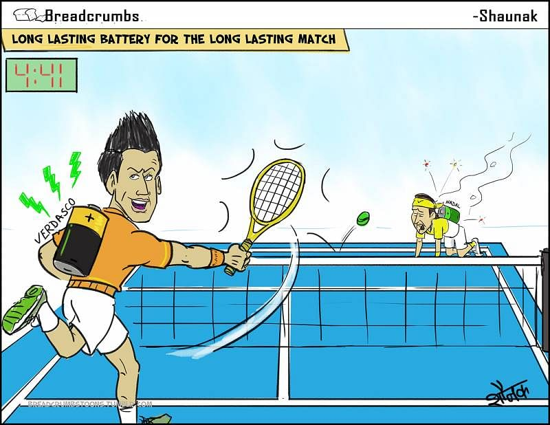 COMIC: Fernando Verdasco outlasts Rafael Nadal