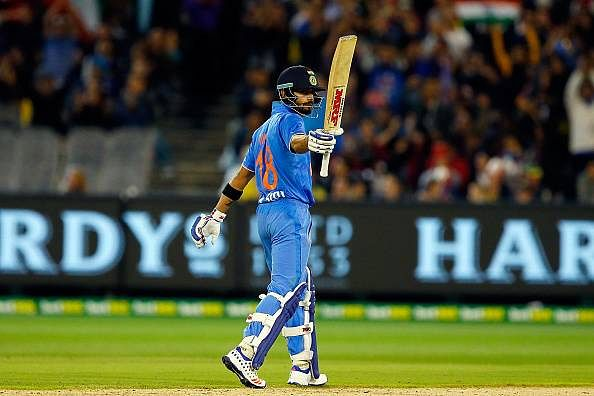 India post a total of 184 runs against Australia in second T20I