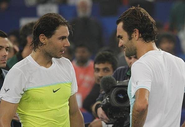 When Roger Federer imitated Rafael Nadal