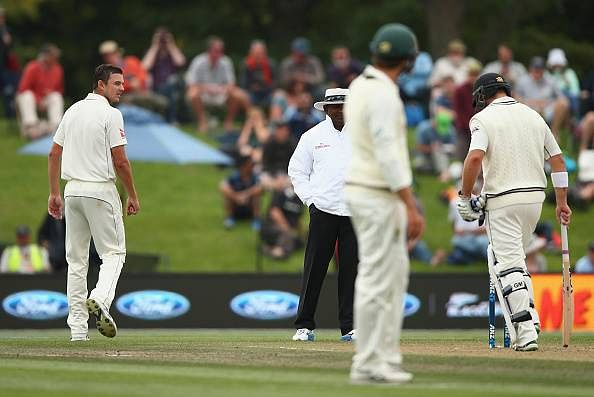Australian quick Josh Hazlewood charged after outburst