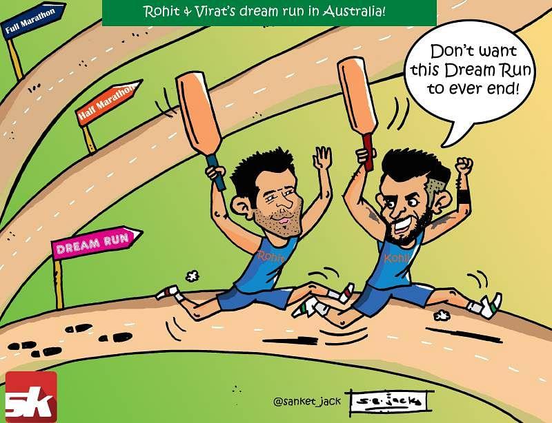 Comic: Virat Kohli and Rohit Sharma's dream run