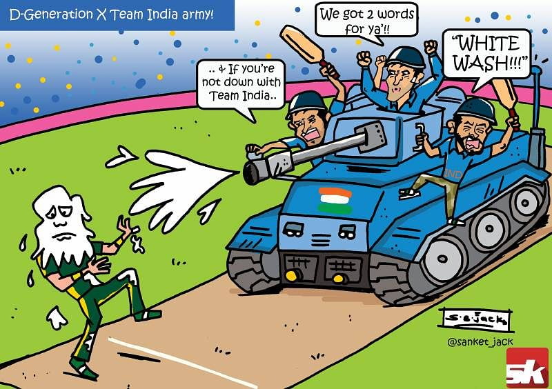 Comic: The D-Generation X Team India army