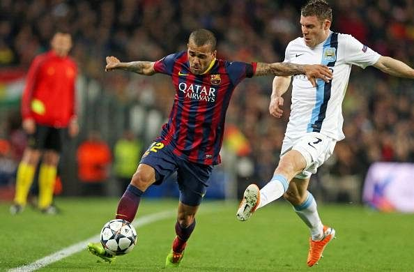 Dani Alves says James Milner is the toughest opponent he's played