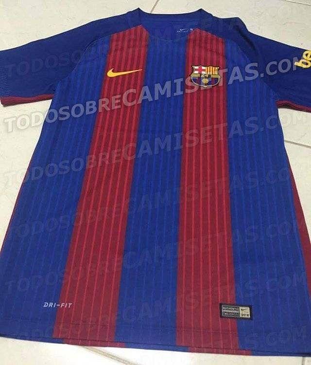Leaked photo of Barcelona jersey for 2016/17 season