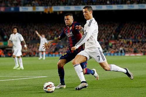 Barcelona's Dani Alves says he has no personal problem with Real Madrid's Cristiano Ronaldo