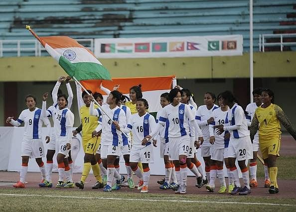 Indian Women's Football Team draw with Maldives 0-0 in SAG opener