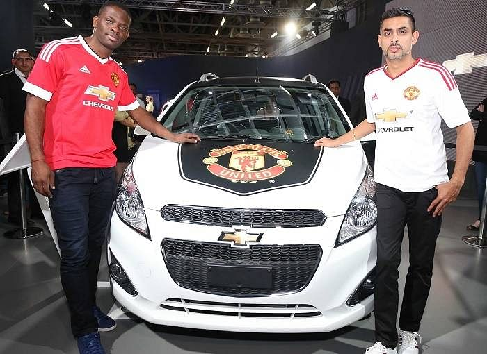 Manchester United legend Louis Saha visits Chevrolet Pavilion at