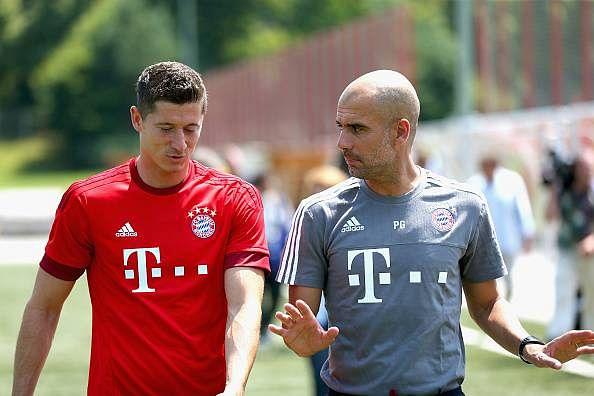 Robert Lewandowski says Pep Guardiola has decided his Premier League destination