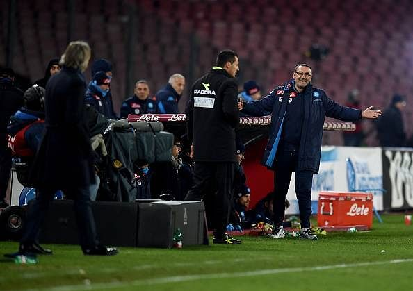 Napoli's coach Maurizio Sarri says he has no problem if gay footballers play for his team