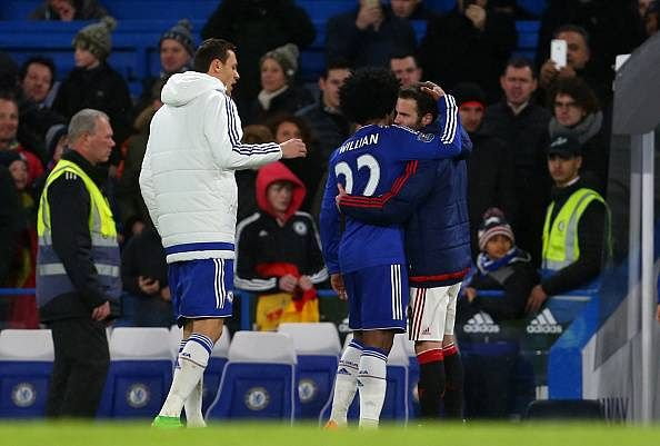 'Nice guy' Juan Mata embraces ex-Chelsea teammates after Manchester United draw