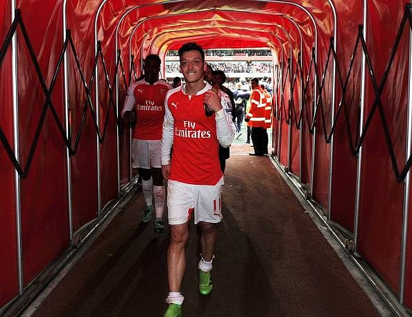Arsenal's Mesut Ozil on his way to breaking another Premier League record