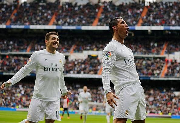 Cristiano Ronaldo scored twice as Real Madrid beat Athletic Bilbao 4-2