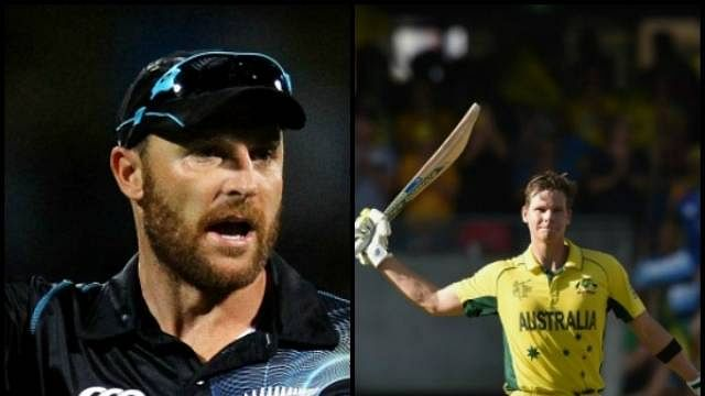 Difference of opinion between Steven Smith and Brendon McCullum over Marsh's