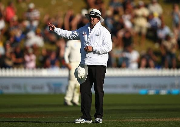 Umpire Richard Illingworth shattered with his