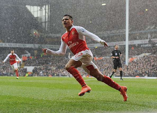 alexis sanchez against Tottenham