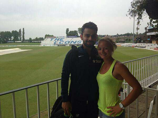 Danielle met Virat when he was in England to play a test series