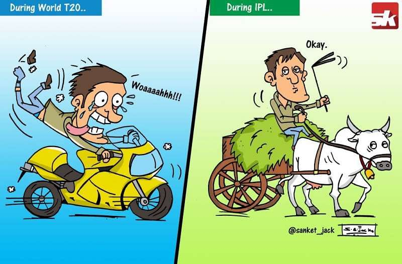 Comic: World T20 vs IPL!