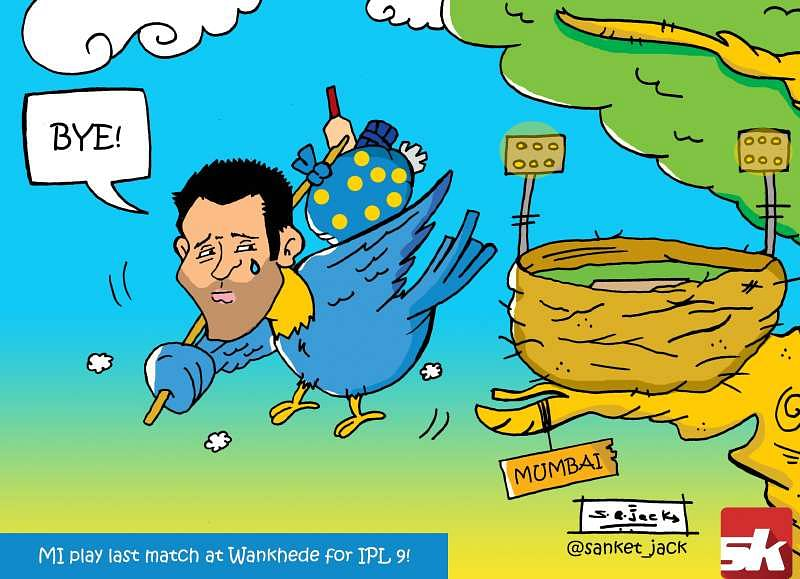 Comic: MI's last match at Wankhede for IPL 9!