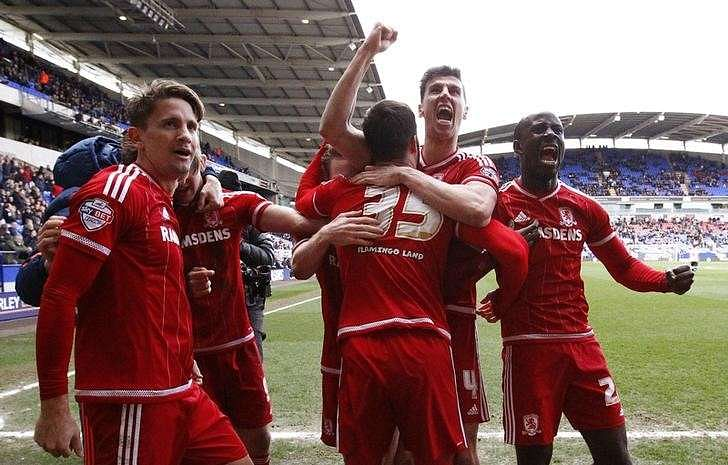 Stoppage time winner takes Middlesbrough four points clear