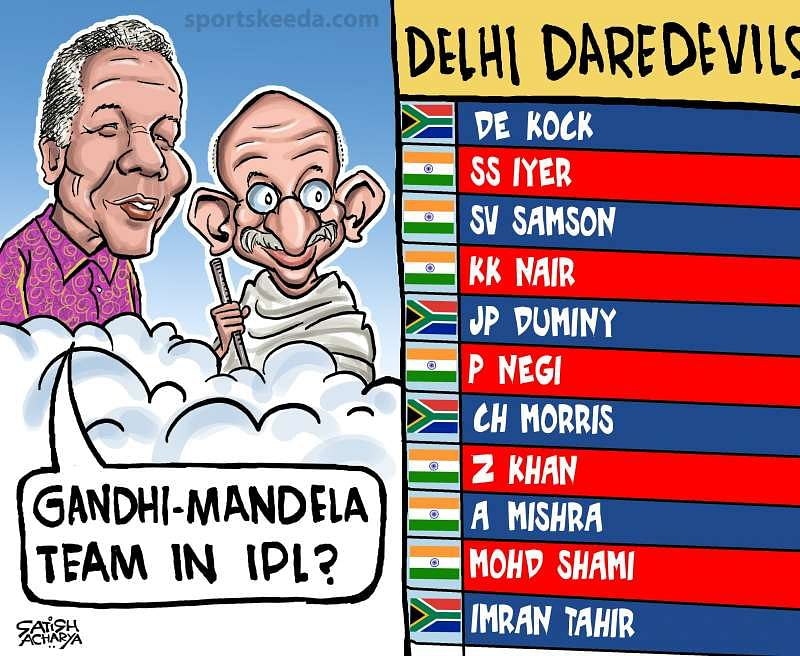 Comic: Delhi Daredevils' overseas players