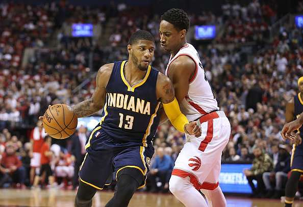 2016 NBA Playoffs: Pacers steal home court in Game 1 at Toronto, Thunder defeat Mavericks by 38 points
