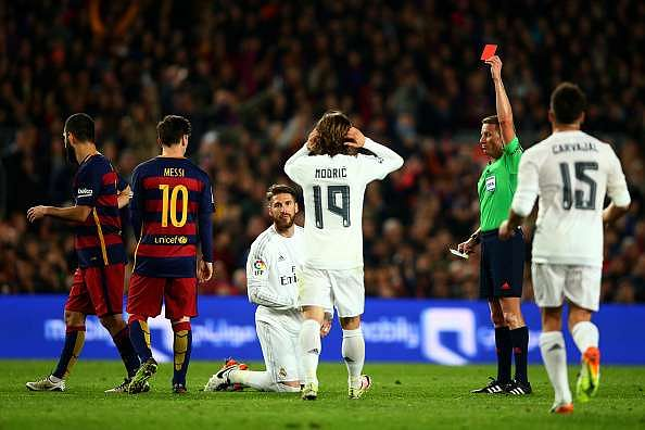 Humour: Sergio Ramos explains why he loves red cards