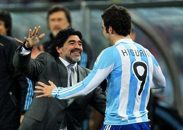 Diego Maradona claims Napoli will sell Gonzalo Higuain to raise money