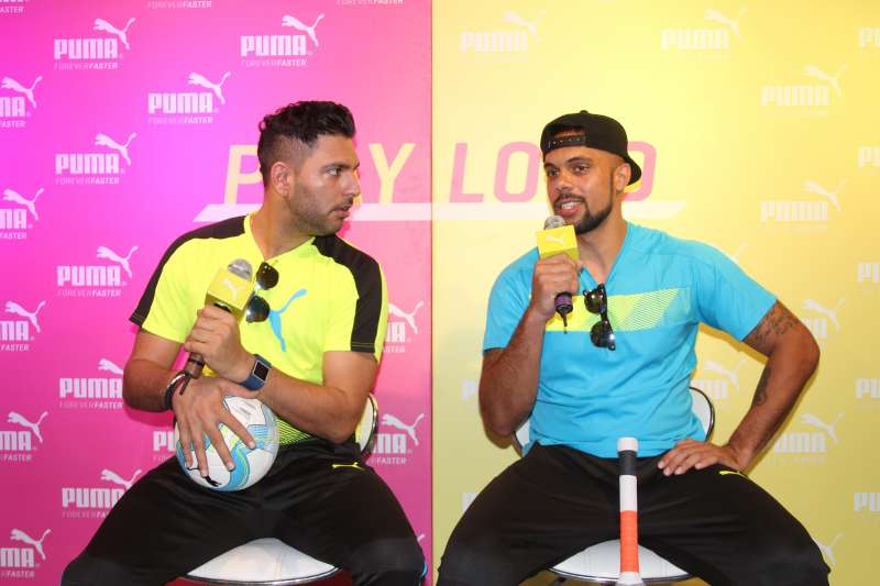 Yuvraj Singh and Robin Singh launch PUMA's bold Tricks collection for the sporting season