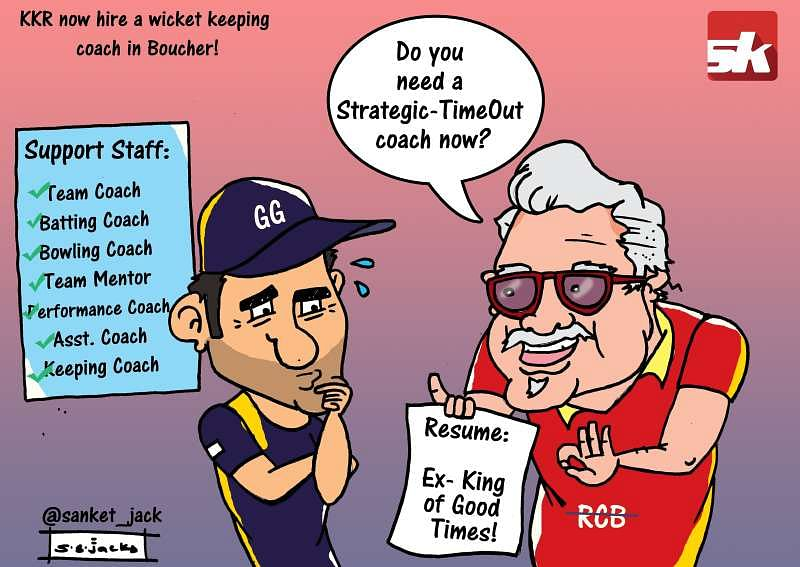 Comic: KKR hire a wicket keeping coach!