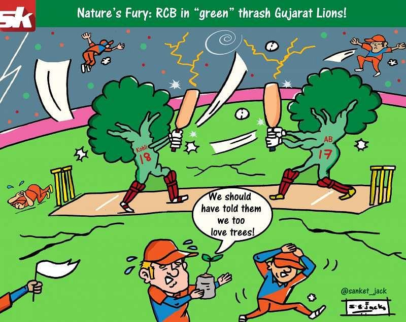 Comic: Nature's Fury by Royal Challengers Bangalore!