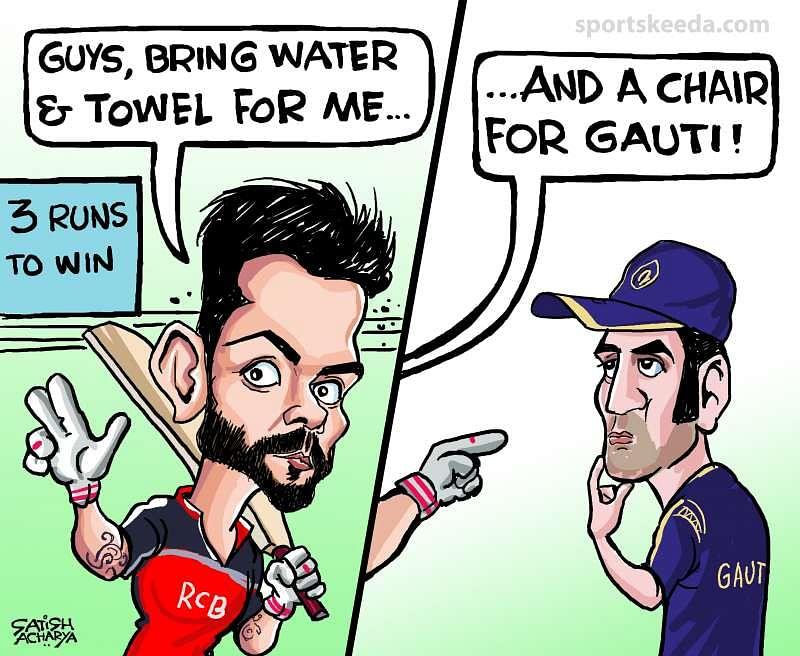Comic: Virat Kohli vs Gautam Gambhir Part II?