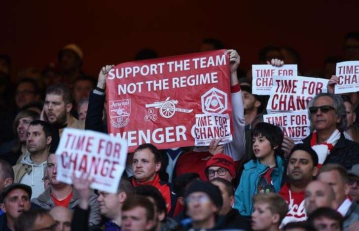 Wenger says Arsenal protesters full of