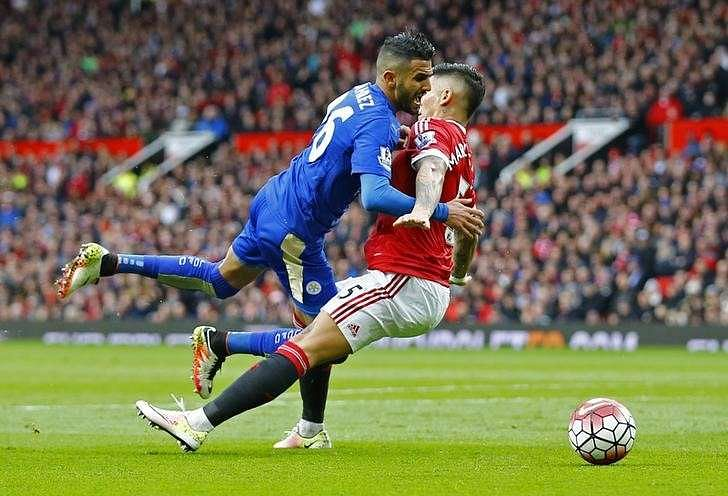 Leicester draw at Man United to move to brink of title